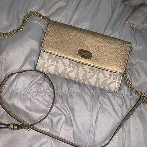 MK Gold Sparkly Crossbody